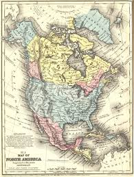 North Anerica Map 1858 Map Of North America Reusableart Com