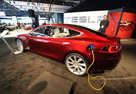 tesla electric car tesla model s all electric car arrives in the uk mirror online