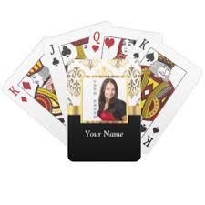 Playing Card Design Template Instagram Playing Cards Zazzle