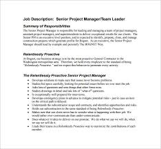 Administrative Assistant Job Description For Resume by Construction Project Manager Job Description Entry Level