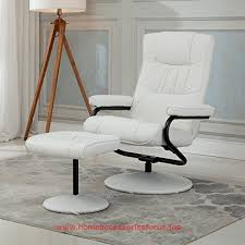 homcom pvc leather recliner and ottoman set cream homcom pvc leather recliner and ottoman set cream see this great