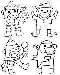 hanging monkey coloring art schoolin u0027 monkey
