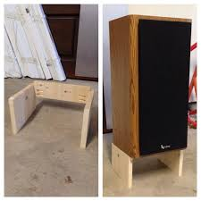 How To Mount Bookshelf Speakers Custom Diy Speaker Stands For Less Blog For Whoever U2026 Pinteres U2026