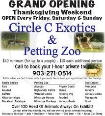circe c exotics petting zoo grand opening set for thanksgiving