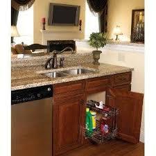 kitchen sink cabinet organizer amazon com household essentials c26512 1 glidez under sink