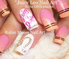 astrology nails zodiac leo nail art design tutorial in pink ombre