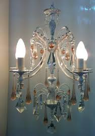 Shabby Chic Chandeliers by Raffaello 5 Arms Vintage Crystal Chandelier White Shabby Chic