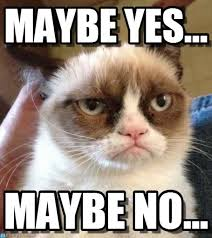 Maybe Meme - maybe yes grumpy cat reverse meme on memegen
