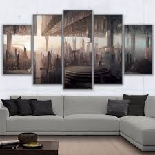 wall art canvas pictures hd printed home decor 5 pieces abstract