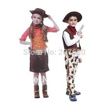 boys girls kids cowboy fancy dress costume children party
