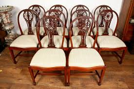 Ideas For Hepplewhite Furniture Design 10 Mahogany Hepplewhite Dining Chairs Carved Wheel Back Dining
