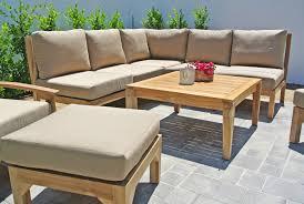 huntington teak outdoor sectional sunbrella patio furniture