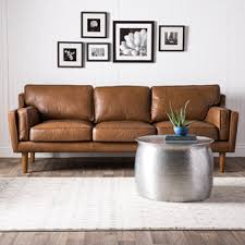 overstock sleeper sofa beatnik oxford leather tan sofa overstock com shopping the