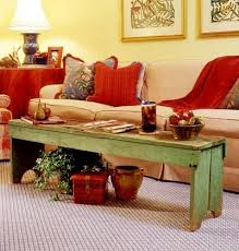 Rustic Bench Coffee Table Best 25 Narrow Coffee Table Ideas On Pinterest Narrow Hallway