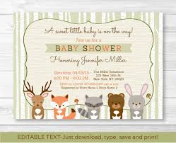 woodland creatures baby shower invitations kawaiitheo com