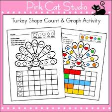 thanksgiving activities graphing shapes thanksgiving math math