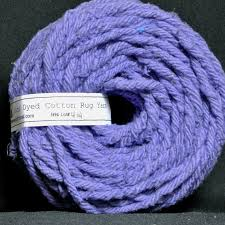 Wisteria Rugs Hand Dyed Cotton Rug Yarn Colors Wisteria Purple Or Iris