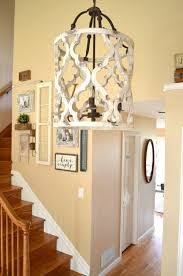 Farmhouse Ceiling Lights by Lighting Updated Wood Farmhouse Chandelier With Wood Stairs And