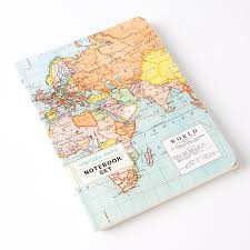 Vintage Maps Vintage Maps Notebook Set Of 2 By Cavallini U0026 Co