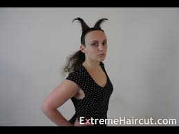 extremehaircut blog cute devil girl hairstyle extremehaircut com model youtube