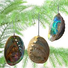 Large Christmas Decorations Nz by Natural Paua Shell Christmas Decorations Set Of 3 Silverfernz Com