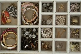 jewelry box organization pearls on a string