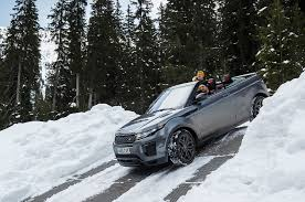 land rover snow 2017 range rover evoque convertible review