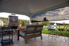 Roll Up Patio Screen by Shades U0026 Screens Residential U0026 Commercial Awning Place