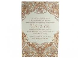 henna invitation mehndi letterpress wedding invitation digby digby