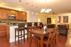 fresh small living and dining room combined light of dining room