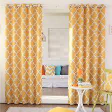Yellow Drapery Aurora Home Moroccan Tile Room Darkening Grommet Top 84 Inch