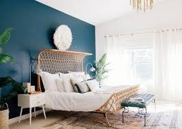 chambre peinte en bleu bleu chambre adulte merveilleux couleur de peinture décorée bleu