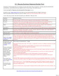 sle student resume summary statements high student sle resume experience related work for