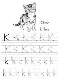alphabet abc letter kitten coloring