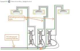 how to wire 3 light switches in one box diagram