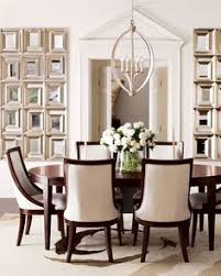 Fancy Dining Room Chairs 59020 Round Mirror In Dining Room Dining Room Transitional With
