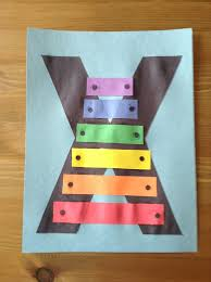 x is for xylophone craft preschool craft letter of the week