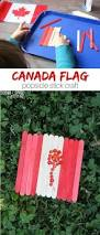 canada flag popsicle stick craft sugar spice and glitter