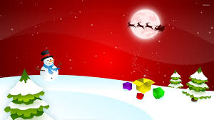 santa claus on the magical christmas eve wallpaper holiday