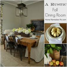 rustic fall dining room