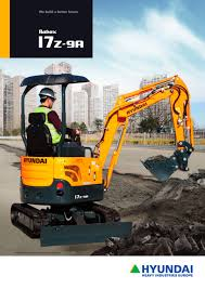 r17z 9a mini excavator hyundai heayy industries pdf catalogue