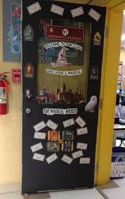 harry potter themed classroom door what to teach pinterest