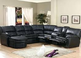 leather sectional reclining couch recliner sofa with cup holders