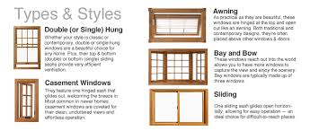 windows types of windows for homes decor window styles r us types