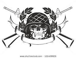 20 army skull tattoo designs