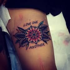 love tattoo done by kirk jones