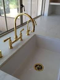 waterworks kitchen faucets staggering unlacquered brass kitchen faucet ecomercae com