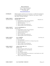 Cnc Machinist Resume Samples by Cnc Machinist Cover Letter