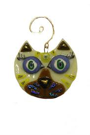 c roses glass cat ornament from washington by maje gallery