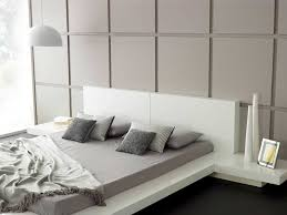 Japanese Bedroom Furniture Bedroom Modern White Painted Solid Wood Japanese Platform Bed